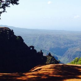 Views south down Waimea Canyon towards the sea