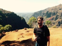 KK on the ridge above Waimea Canyon