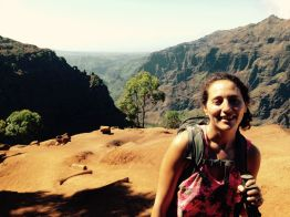 PK on the ridge above Waimea Canyon