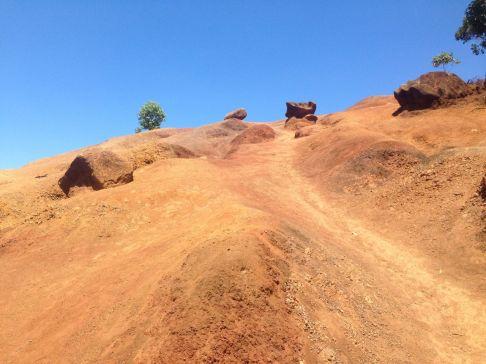 Muddy ascent