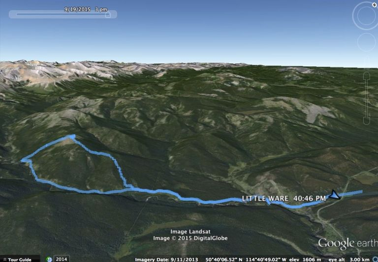 Little Ware Google Earth Track