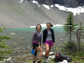 The sisters at Borgeau Lake