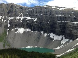 Looking down on the jewel of Borgeau Lake