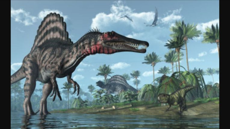 Spinosaurus Battle http://deadliestfiction.wikia.com/wiki/User_blog:Red243/Tyrannosaurus_Rex_Vs_Spinosaurus_(Rematch)?file=Spinosaurus.jpg