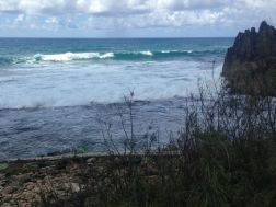 The blue sea