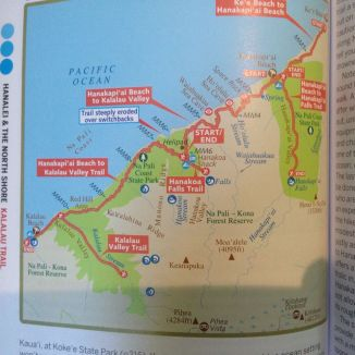 Map from Lonely Planet Kauai