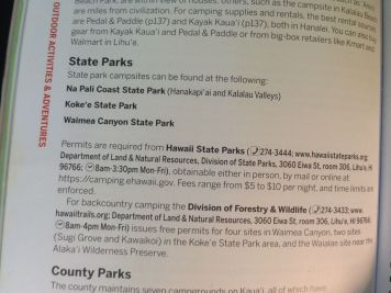 Emergency Info from Lonely Planet Kauai