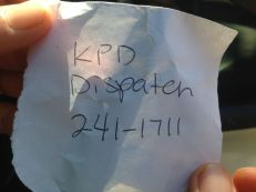 Just incase, Kauai Police Department Disbatch