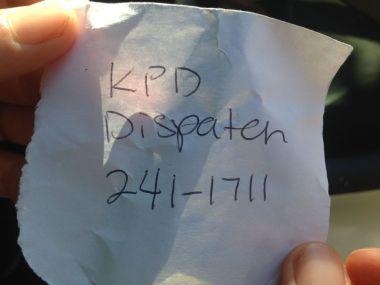 Just incase, Kauai Police Department Disbatch