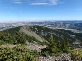 The view east of the fifth summits plateau