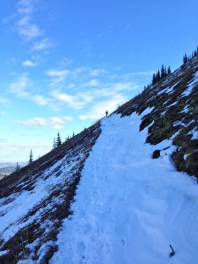 The ascent route to Cox Hill