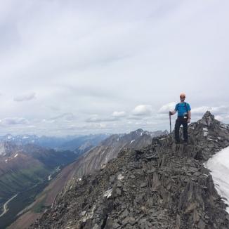On the summit of Mist Mountain looking NW
