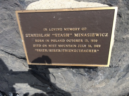 Memorial Plaque at summit