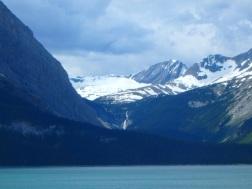 Fossil Falls across Upper Lake