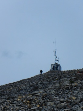 Approaching the summit of Mount Indefatigable