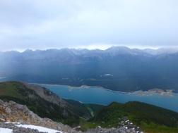 Lower Lake far below