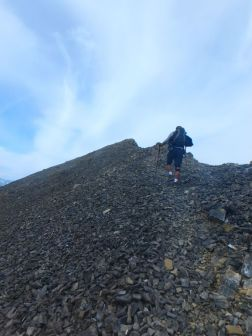 Final ascent to the summit