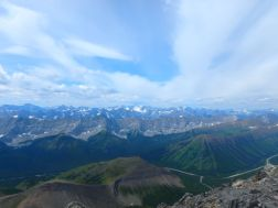Views west over Highwood and Grizzly Ridges