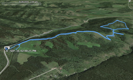 Google Earth track of our route