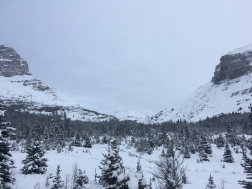 Boulder pass in the distance