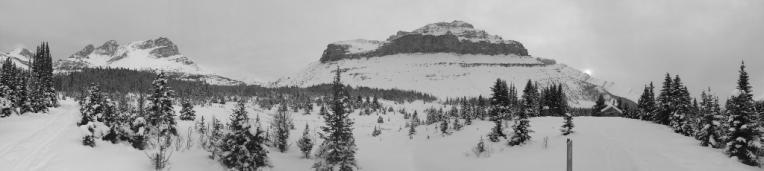 Terrain before boulder pass