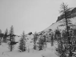Skinning up Boulder Pass