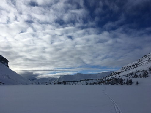 The view west from Ptarmigan lake