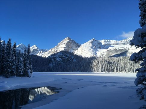 The peaks from Lower Elk Lake