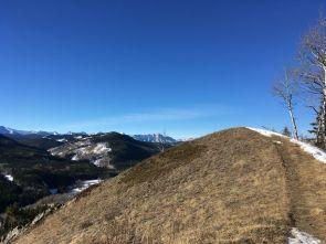 Walking back along the ridge, Bluerock Mountain in the distance