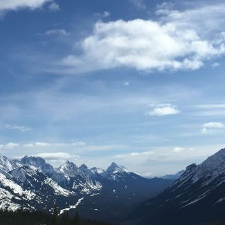 The view south to Elk Pass and Kananaskis Lakes