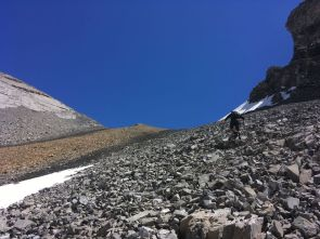 Ascending to the col
