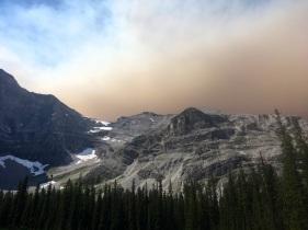 Smoke haze from the Assiniboine fire